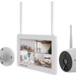 タッチパネルモニターと屋外用カメラ2台のセット