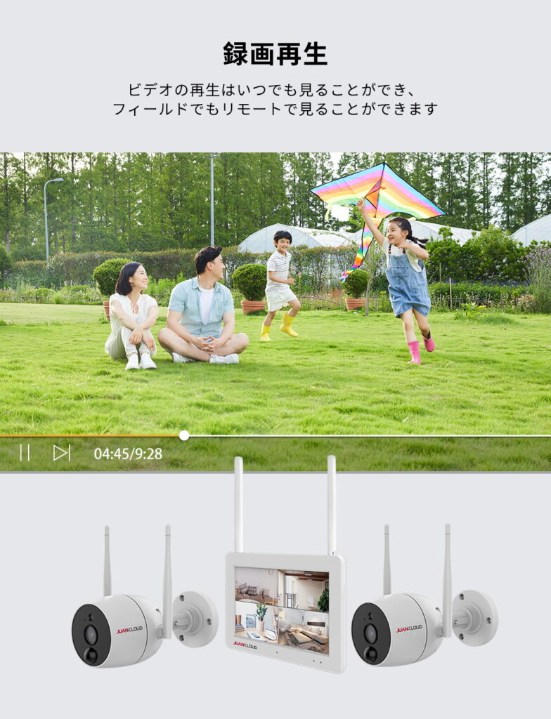 JA-T6204-PO1031-WP 録画再生 ビデオの再生はいつでも見ることができ、屋外でもリモートで見ることができます。